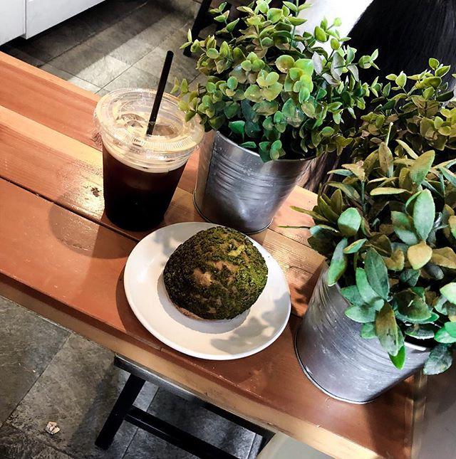 Coffee meets ba—- matcha cream puff. #muchbettercombo . . . . #latergram #yum #foodie #forkyeah #viewoftheday #goodmorning #bakery #caffeine #coffee #matcha #creampuff #nyceats  #bostonblogger #thenines
