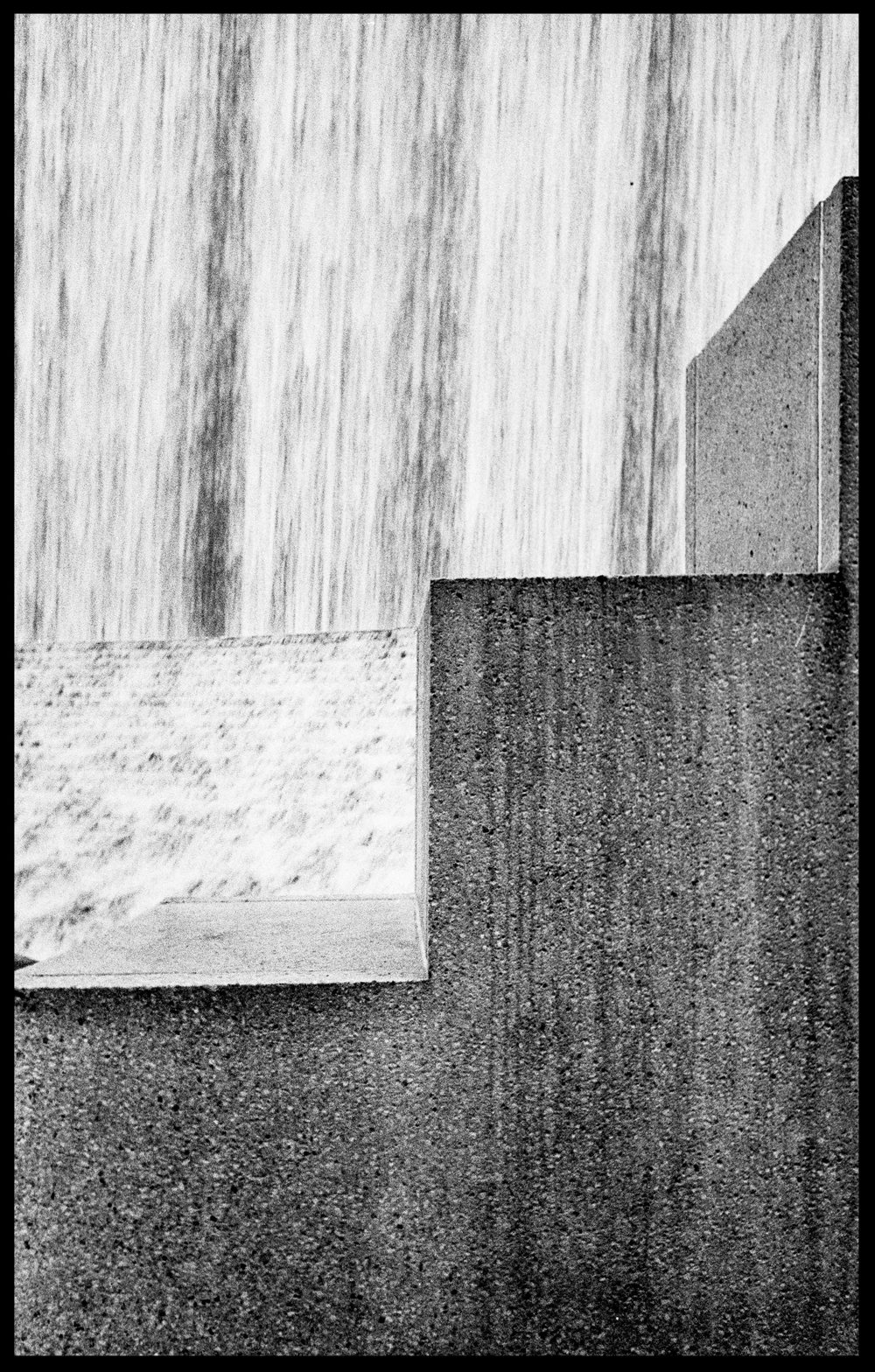 Water Wall, Houston Galleria, Leica M2, Ilford HP5.