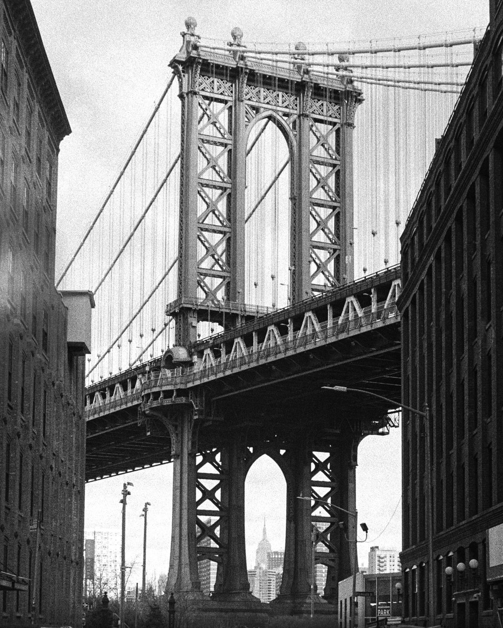 Manhattan  Bridge from Brooklyn, Dumbo, New York