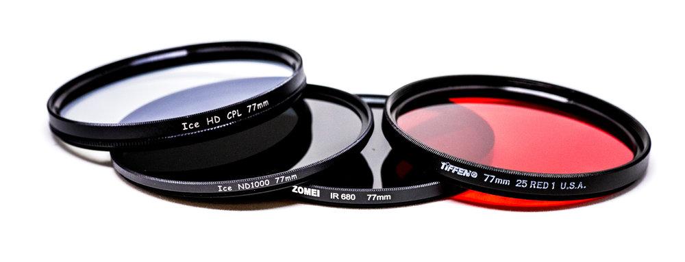 simple camera filter set