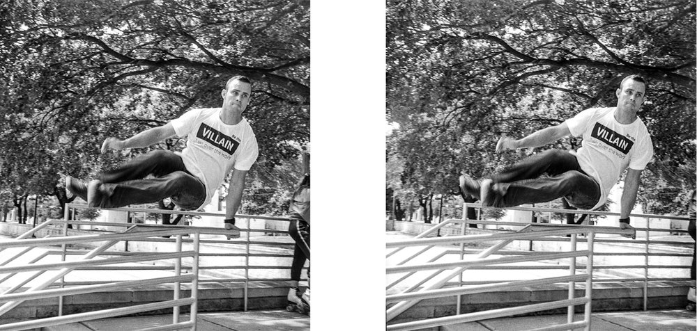 stereo realist jumping portrait houston 2