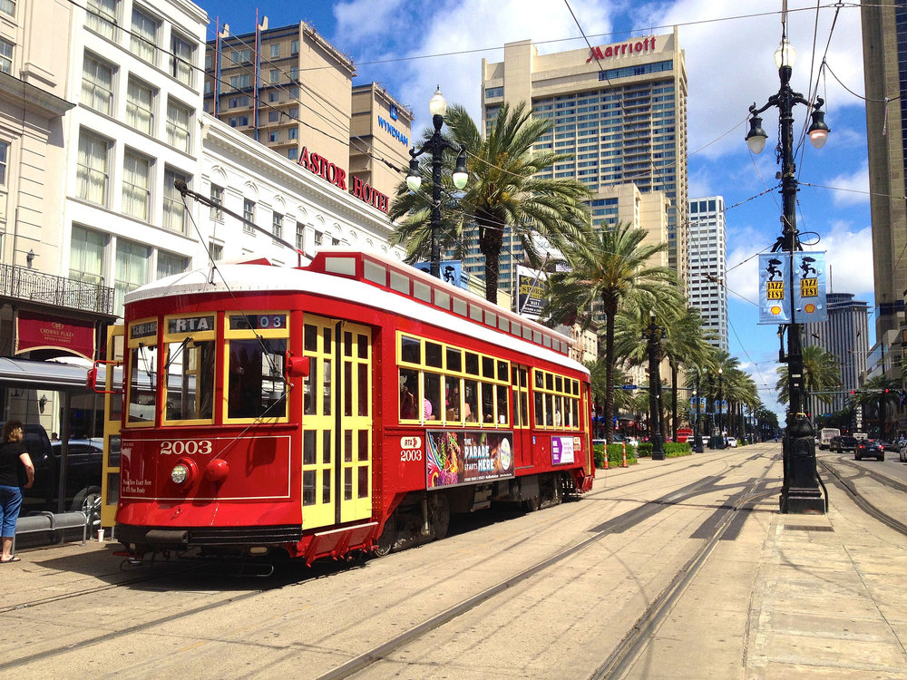 Street Car in New Orleans on Canal Street