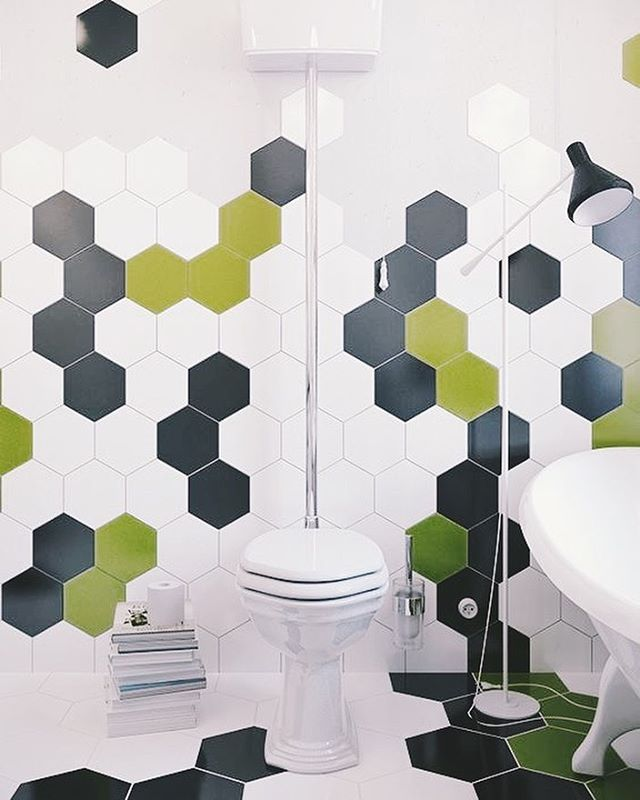 Add a pop of color to your bathroom with some tiles! #tiletuesday