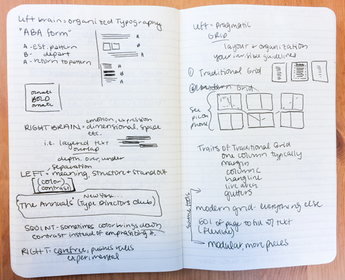 The Grid - My notes on Jeff's suggestions for manipulating traditional and modern grid layout for typographic design