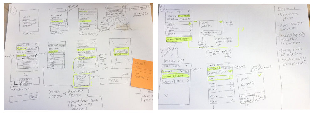 App flow sketches