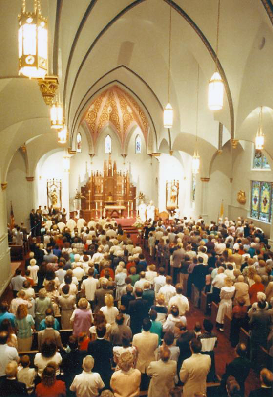 Re-Dedication of Our Lady of Lourdes 1991
