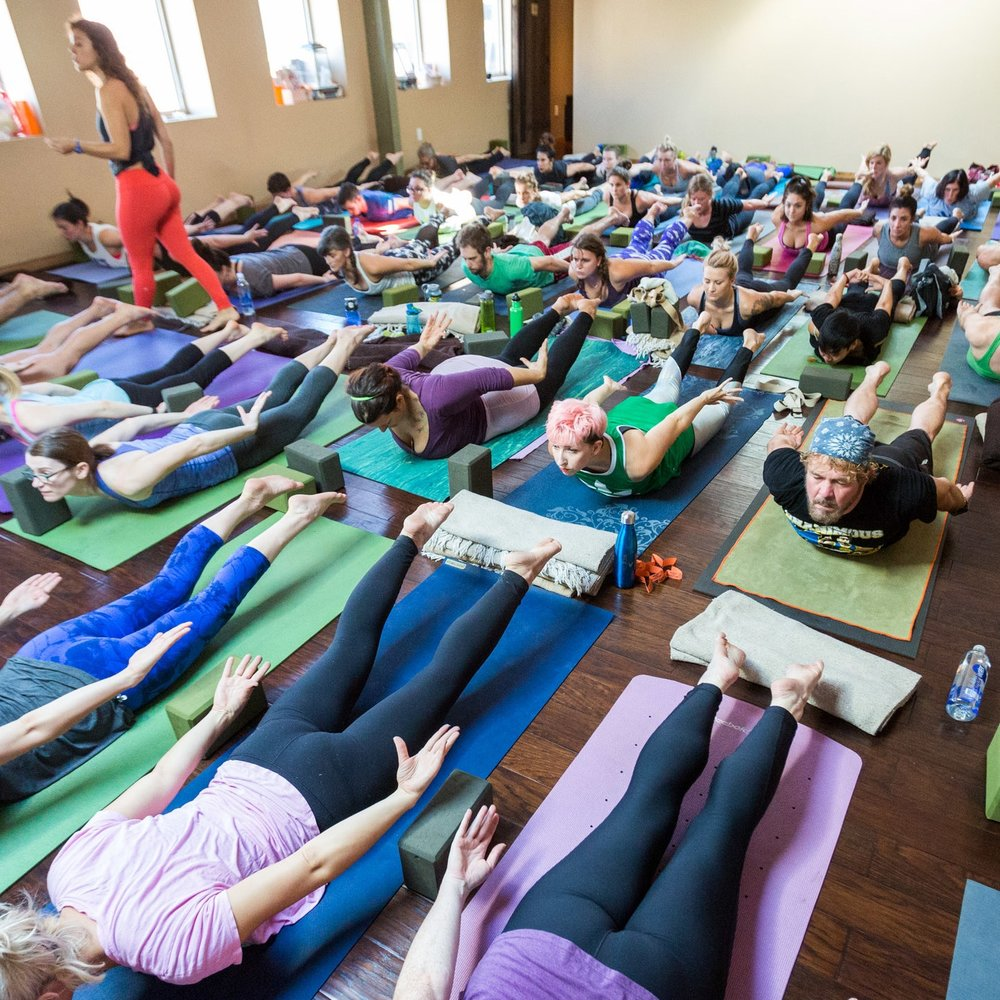 corporate yoga - Request a private event or ongoing group session to connect with your coworkers and teammates!