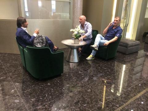 Dario Baccin in meeting with Berardi's agent