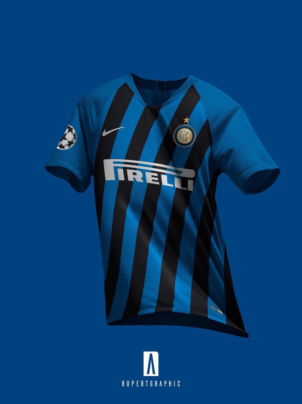 5f6a6c59 La Repubblica confirms: Inter 2019-2020 home kit to have diagonal stripes.  But