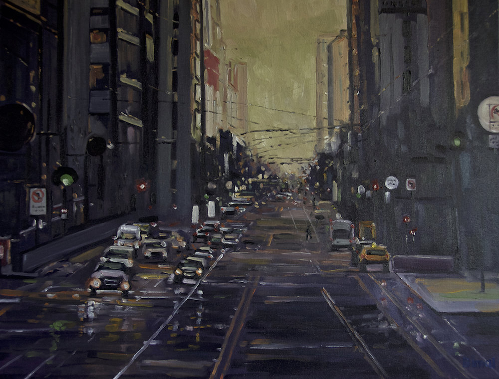 Market Street at San Francisco, Oil 22x28
