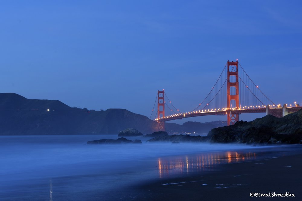 Golden Gate Night, San Francisco CA