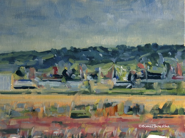 Salt Marsh Wonders  - Oil on Canvas Panel 9x12""