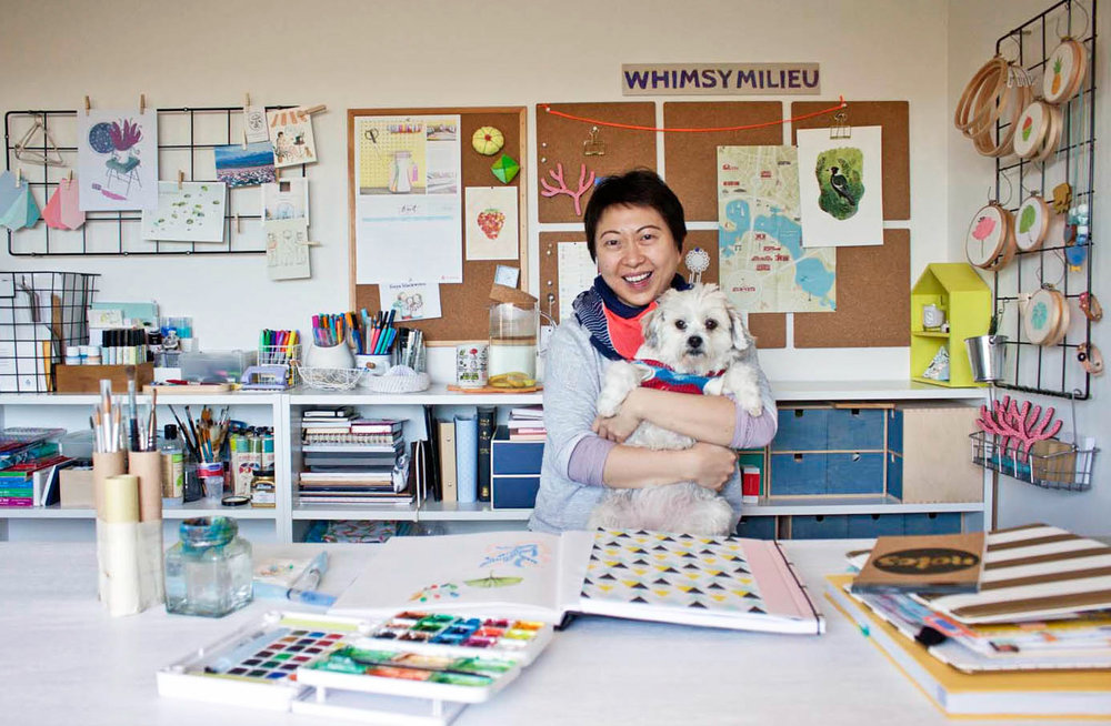 Studio tour and interview with Jacqueline Chan of Whimsy Milieu for The Journey Person