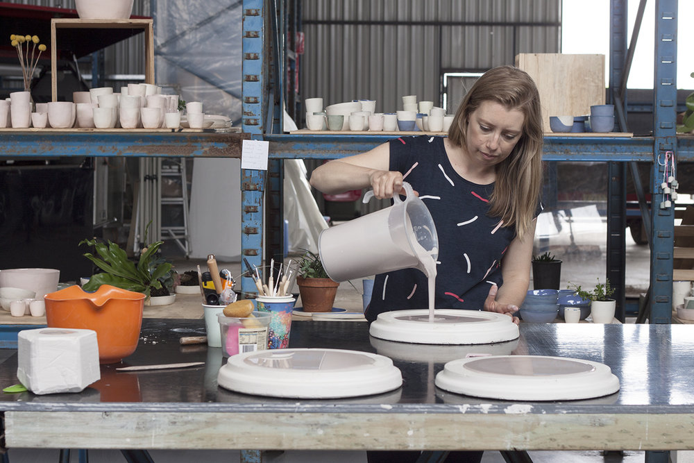Studio visit and interview with Shelly Campton Australian ceramicist - The Journey Person