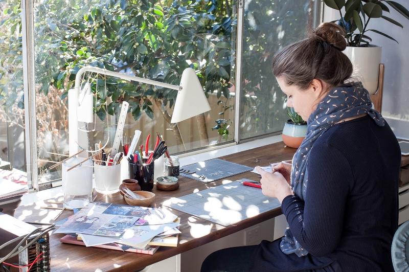 The Journey Person studio tour with Australian jewellery designer Maggie Warrell of Postpress Design