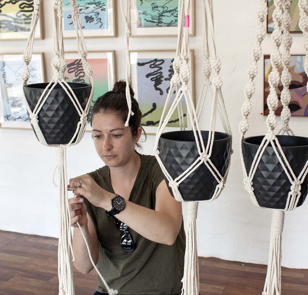 The Journey Person - Macrame Plant Hanger Workshop with Madeline Young