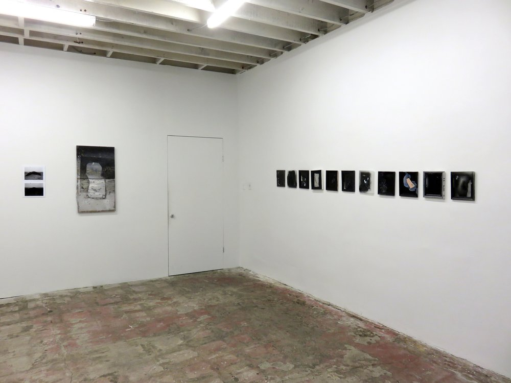 Installation view, 2017   The Back of Something Missing   Ms. Barbers Gallery
