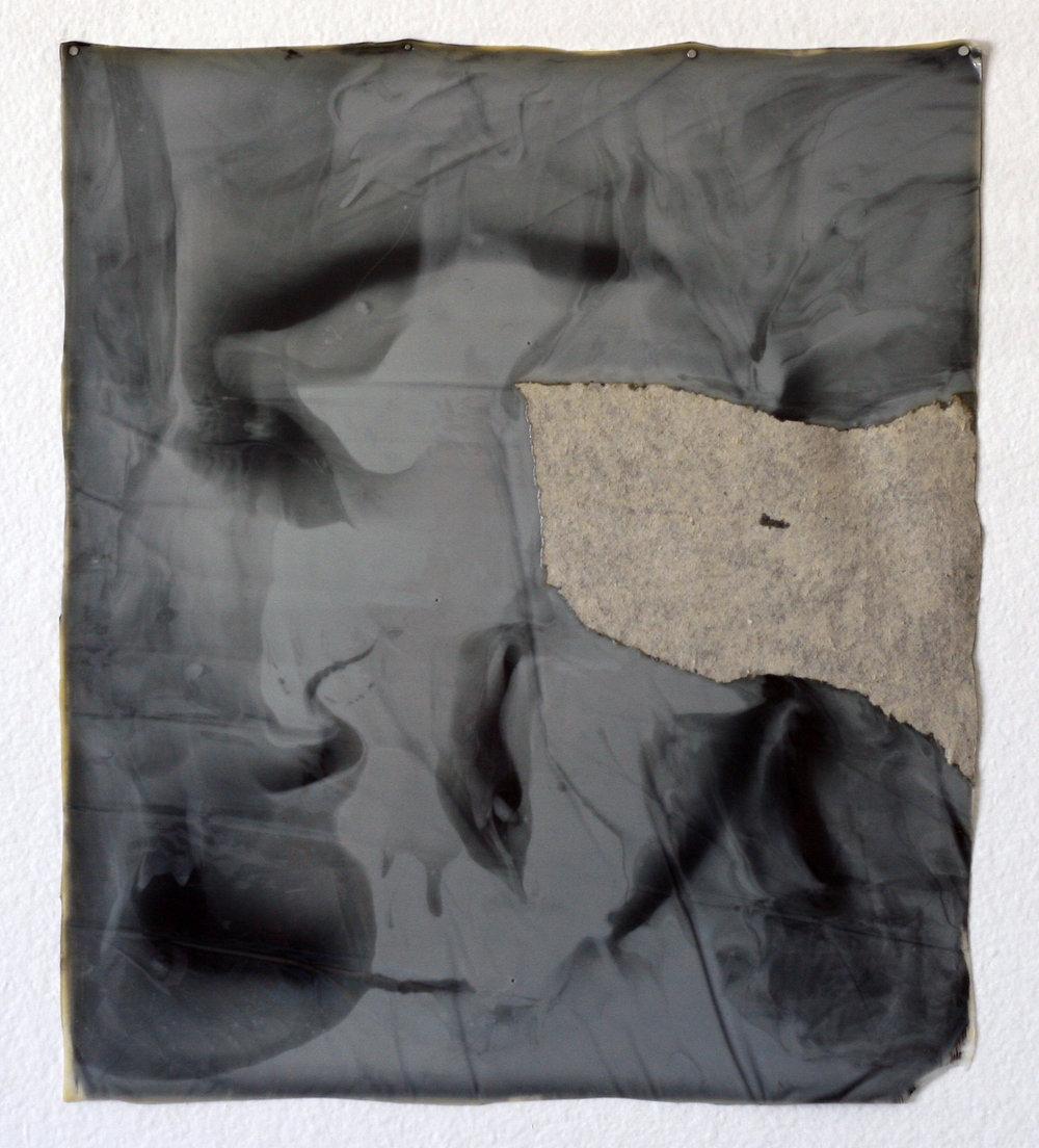 """Untitled, 2013  acrylic, polymer, cardboard  9 x 12"""""""