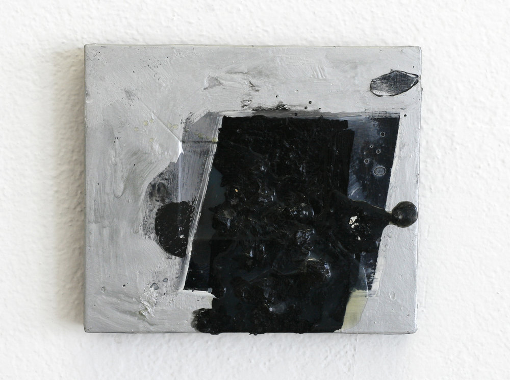 Untitled, 2013  acrylic, polymer, wood  5 x 7""