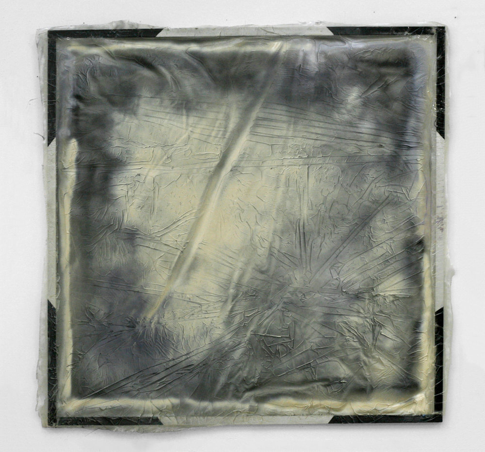 Untitled, 2011  aluminum, resin, spray paint  48 x 48""