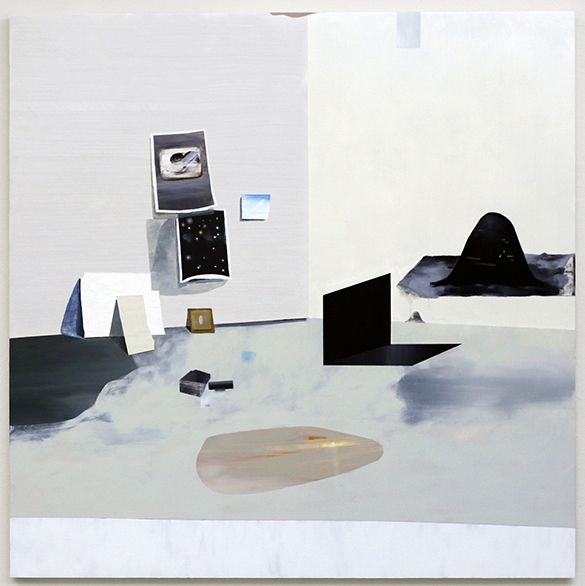 "Untitled, 2008  oil on wood  48"" x 48"""