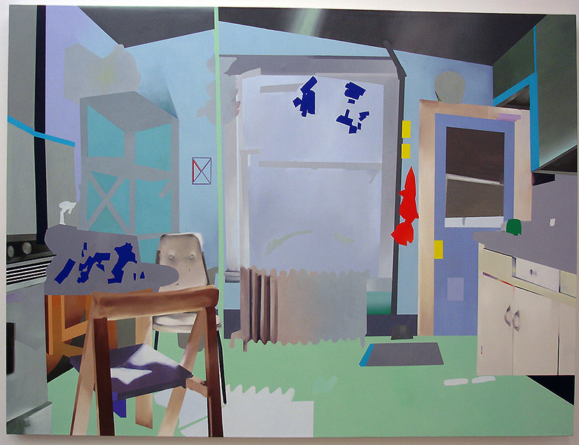"Kitchen II,  2007  oil on canvas  70"" x 52"""