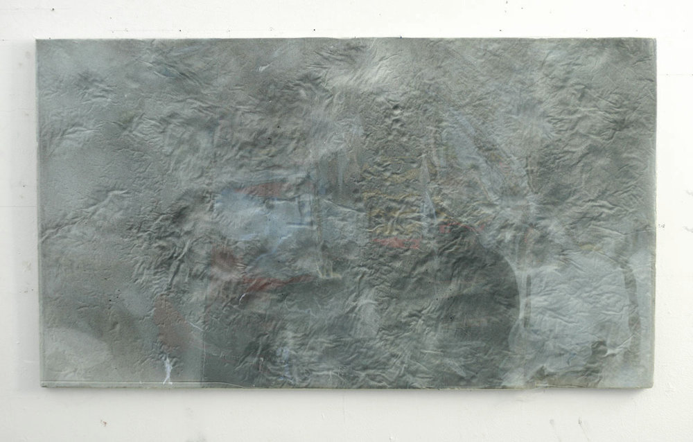 Untitled, 2010  acrylic, foam, mylar  24 x 40""