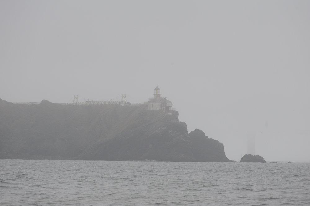 Point Bonita through the fog.