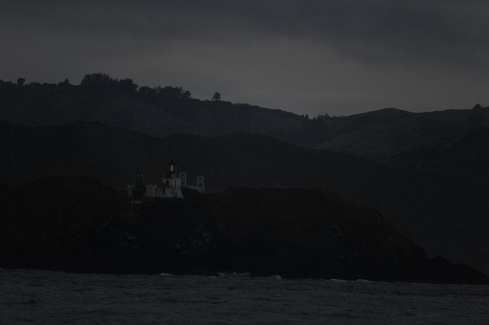 Point Bonita at dusk.