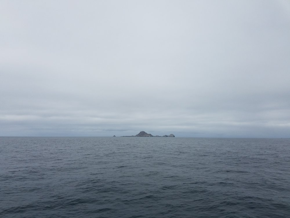 The Farallon islands appear in the distance.