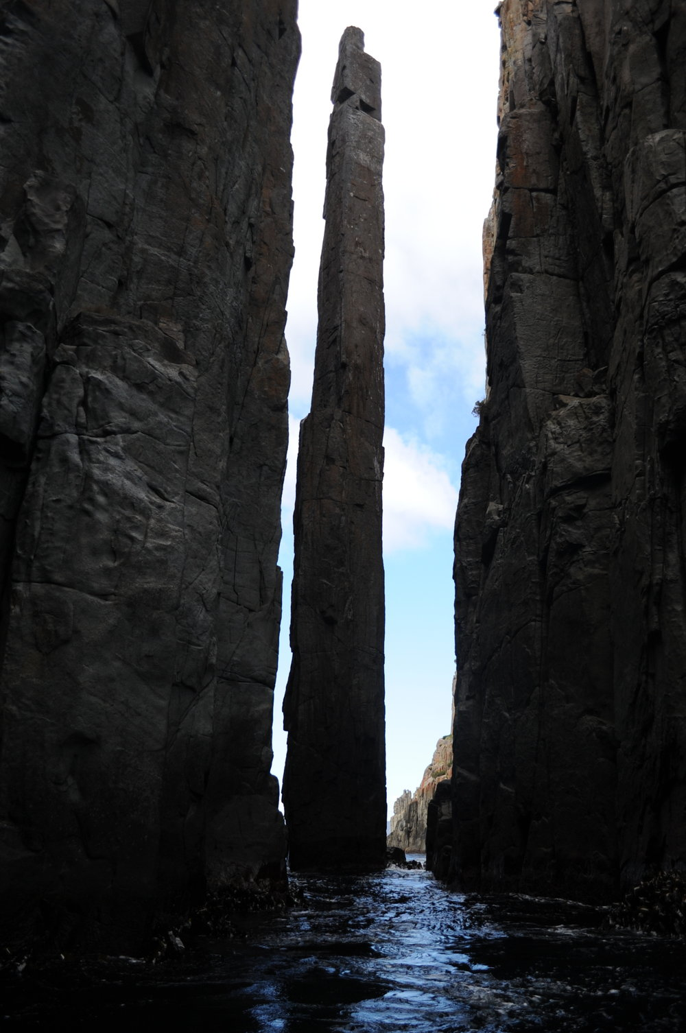 The Totem Pole stands almost 1,000 feet high.