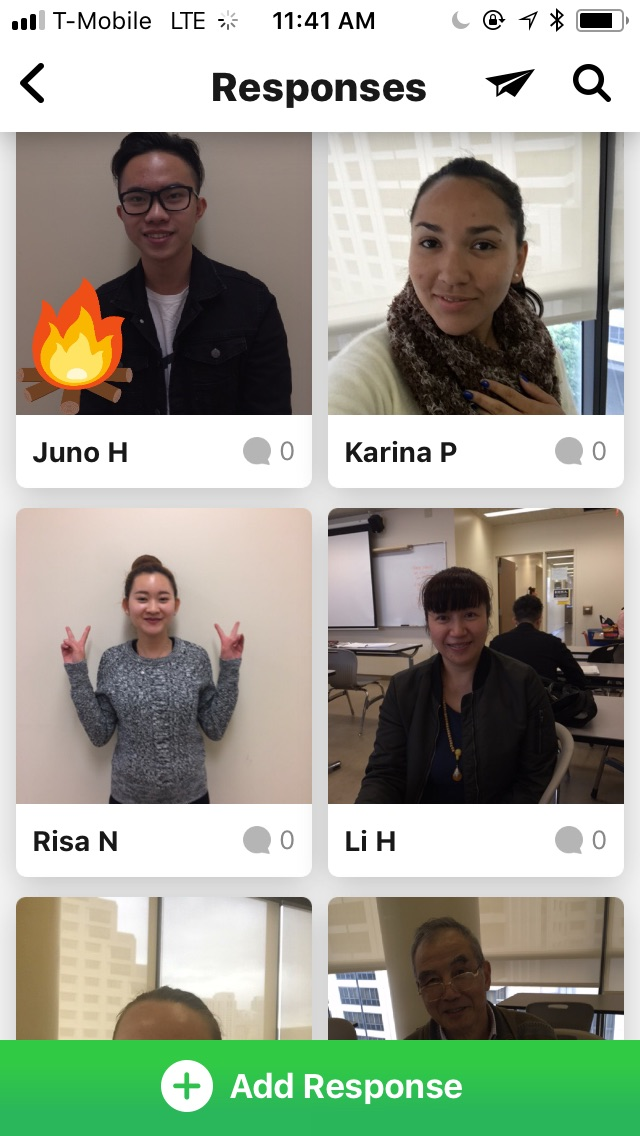 Student videos on Flipgrid