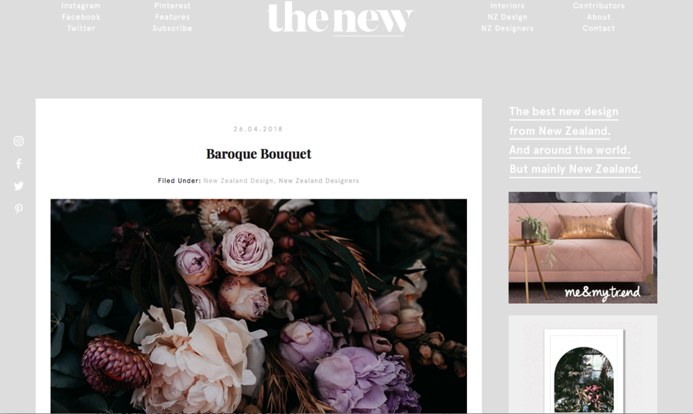The New, Design Blog, New Zealand.