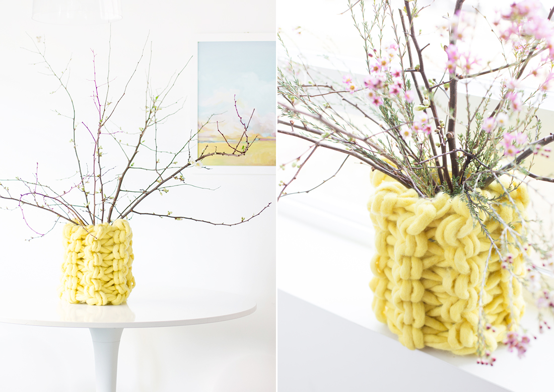 KOEL Stories | DIY Arm Knitted Chunky Vase with Anne Weil