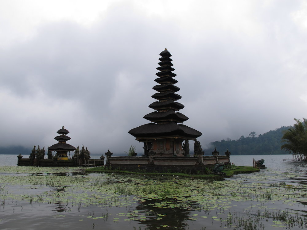 Pura Ulun Danu Bratan by Lake Bratan in Bali was built in 1633.