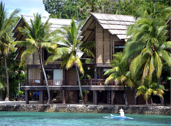 Muslim-inspired Samal Suites of Pearl Farm Beach Resort have private decks and stairs leading to the sea.