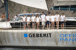 Young explorers on board eco yacht The Pangaea.