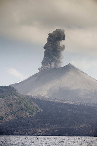 Nature's might: Barren Island active volcano