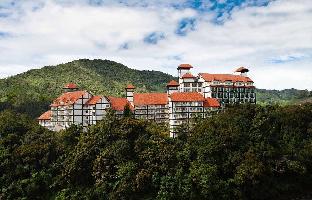 Four-star Heritage Hotel has a commanding view of the mountains in Tanah Rata