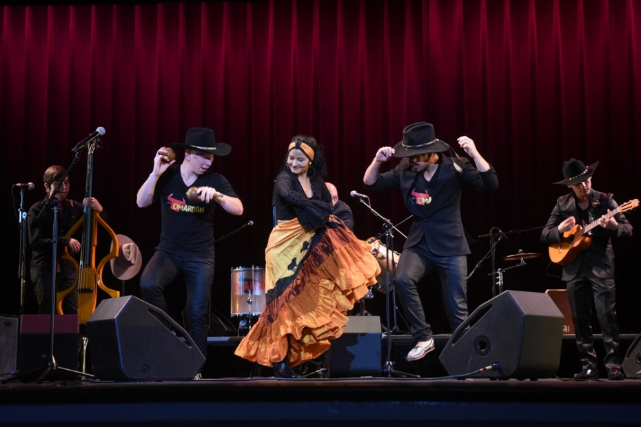 "The acclaimed Cimarron from Colombia will get you dancing with its rippling ""joropo""!"