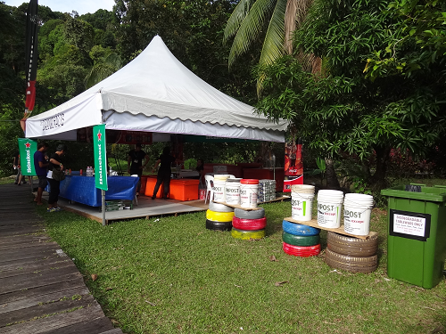 Recycle bins make their appearance at the 19th year of Rainforest World Music Festival
