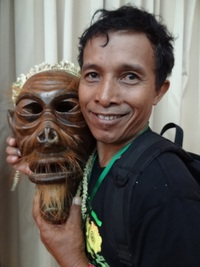 Diaman, maker of the wooden guardian mask, and performer with Mah Meri.Mah Meri – Malaysia