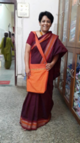 Deepa Krishnan, Magic Tours founder, is proud of the 'jhola' bag.