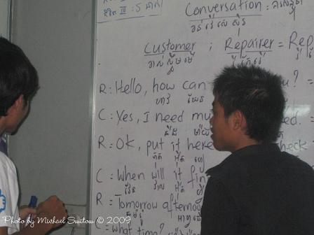 Teaching practical English makes them more prepared for the job market.