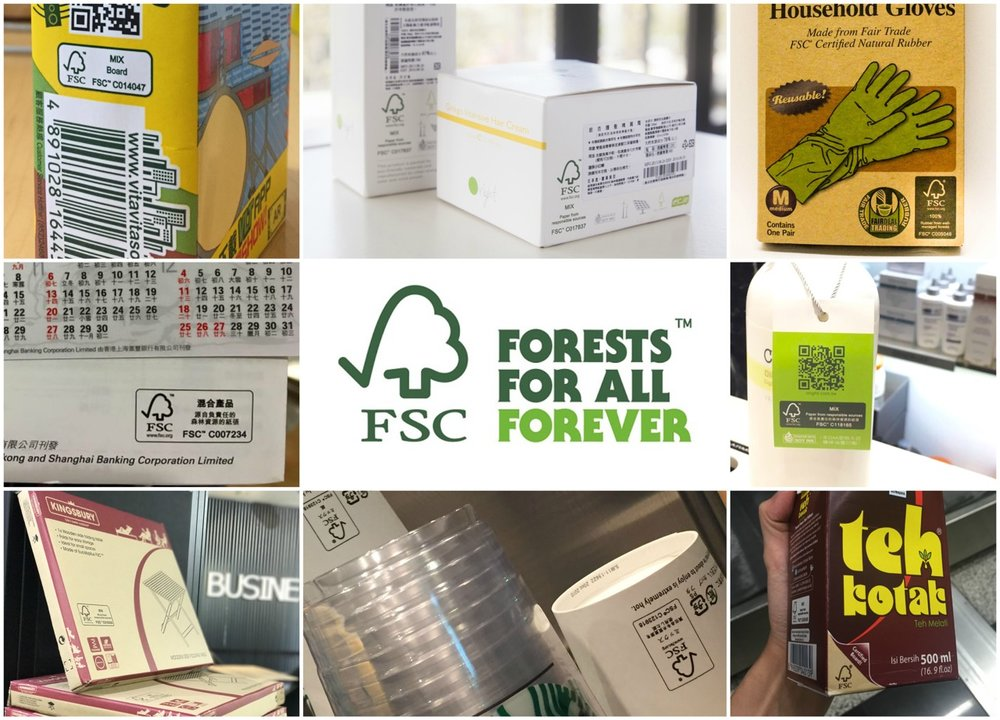 Examples of FSC certified products