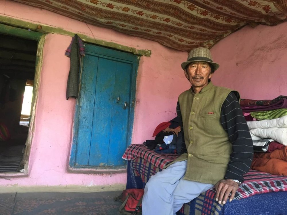Tenzin Andak, resident of Komik village, which is one of the highest villages in the world with a road. At 4,587 metres (15,050 feet), it is located in Spiti Valley in India's northern state of Himachal Pradesh. Taken on July 5, 2017. NITA BHALLA/THOMSON REUTERS FOUNDATION