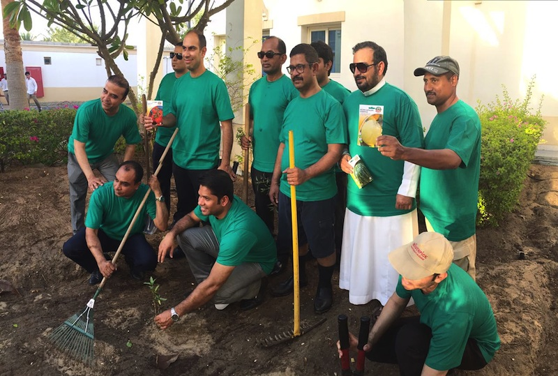 A Tree and Vegetable Planting activity undertaken by resort staff to highlight the benefits of sustainability