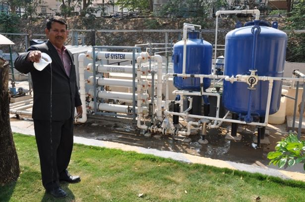 Novotel Hyderabad Convention Centre uses innovative technology to treat sewage water into clear water that is used for gardening