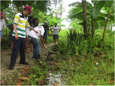 At Tony Oposa's SEA CAMP in Barangay, youths learn farming. Photo by Katrina Marie P. Pestano.