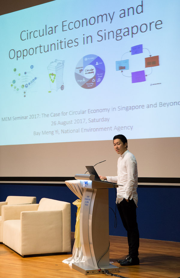 NEA's Bay Meng Yi: The Singapore government facilitates in moving towards a circular economy.